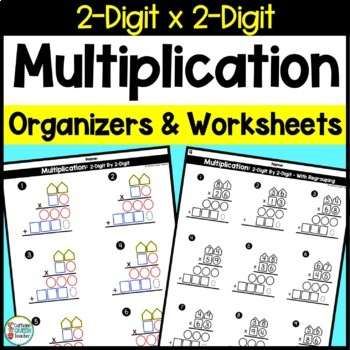two digit multiplication worksheets and organizers original pack