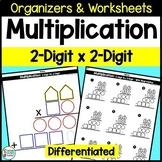 2 Digit Multiplication Organizers and Worksheets - Original Pack