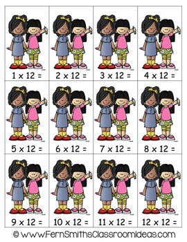 Multiplication Center Game Multiply By Twelve A Quick and Easy to Prep Center