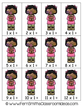 Multiplication Center Quick and Easy to Prep Center Game Multiply By One