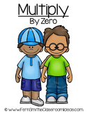Multiplication Center Game Multiply By Zero A Quick and Easy to Prep Center