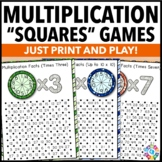 Multiplication Games for Practicing Multiplication Facts {3.OA.7}