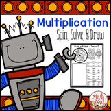 "Multiplication Facts Practice ""Spin, Solve, and Draw"""