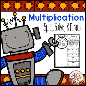 """Multiplication Facts Practice """"Spin, Solve, and Draw"""""""