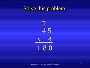 Common Core 4th - Multiplication 2 - 1 Digit x 2 Digits with Regrouping