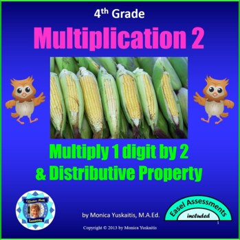 Common Core 4th - Multiplication 2 - 1 Digit x 2 Digits wi
