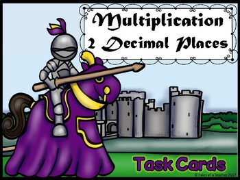 Multiplication 2 Decimal Places Task Cards