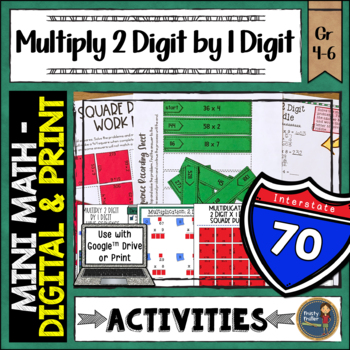 Multiplication 2 Digit By 1 Digit Math Activities Puzzles and Riddle