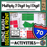 Multiplication 2 Digit By 1 Digit Math Activities Puzzles