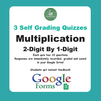 Multiplication Quiz - 2-Digit By 1-Digit (Google Forms)