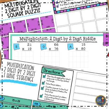 Multiplication 2 Digit By 2 Digit Math Activities Google Slides and Printable