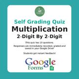 Multiplication Quiz - 2-Digit By 2-Digit (Google Forms)