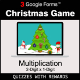 Multiplication 2-Digit by 1-Digit   Christmas Decoration G