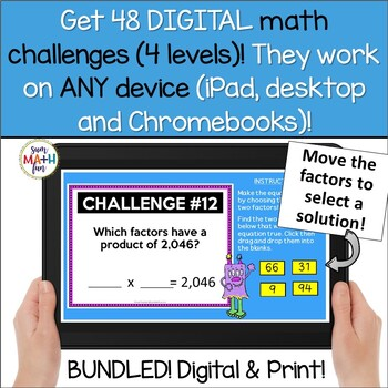 Bundle | Multiplication | Digital and Just Print | Distance Learning