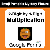 Multiplication 2-Digit by 1-Digit - EMOJI PUMPKIN Mystery Picture - Google Forms