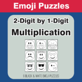 Multiplication: 2-Digit by 1-Digit - Emoji Picture Puzzles