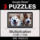 Multiplication 2-Digit by 1-Digit - Google Slides - Dog Puzzles