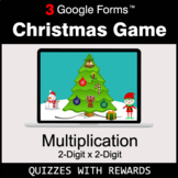 Multiplication 2-Digit by 2-Digit   Christmas Decoration G