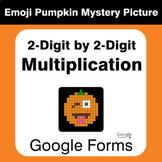 Multiplication 2-Digit by 2-Digit - EMOJI PUMPKIN Mystery