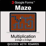 Multiplication 2-Digit by 2-Digit   Maze   Google Forms  