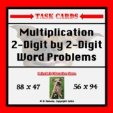 Multiplication 2-Digit by 2-Digit Word Problem Task Cards (28 cards!!!)