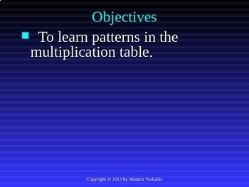 Common Core 3rd - Multiplication 2 - Finding Patterns on Multiplication Chart