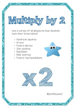 Multiplication 2 Times Tables
