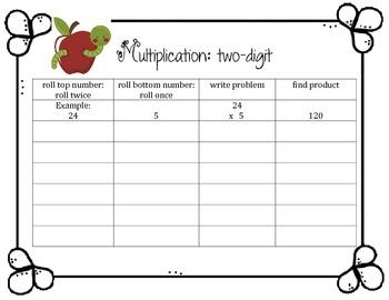 Multiplication: 2-digit