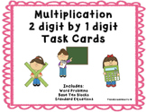 Multiplication 2 digit by 1 digit Task Cards