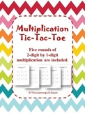 Multiplication: 2-digit by 1-digit Tic Tac Toe