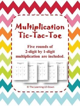 Multiplication: 2-digit by 1-digit Tic Tac Toe