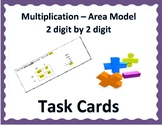 Multiplication - 2 digit by 2 digit - Area Model Task Cards