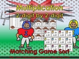 Multiplication: 2-digit by 2-digit Matching Game Sort - Football - King Virtue