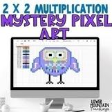Multiplication 2 digit by 2 digit Mystery Pixel Art Distan