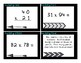 Multiplication 2 digit by 2 digit with and without QR Task Cards