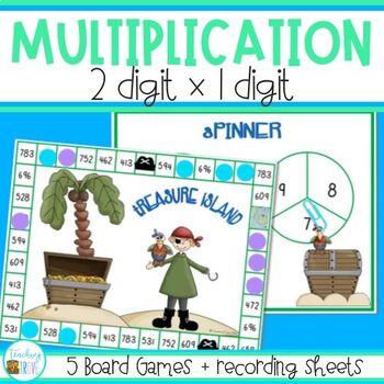 Multiplication Games multiplying 2 digit numbers by 1 digit by ...