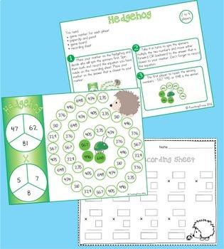 Multiplication Games multiplying 2 digit numbers by 1 digit
