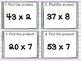 Multiplication 2 digit x 1 digit SCOOT! Game, Task Cards or Assessment