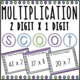 Multiplication 2 digit x 1 digit SCOOT! Game, Task Cards o