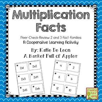 Multiplication 2 fact family: peer-check-review cooperative learning freebie