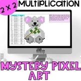 Multiplication 2 x 2 Digit Mystery Pixel Art Koala
