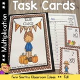 Fall Single Digit Multiplication Task Cards