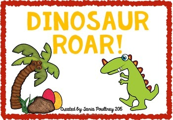 Multiplication card game- Dinsaur Roar