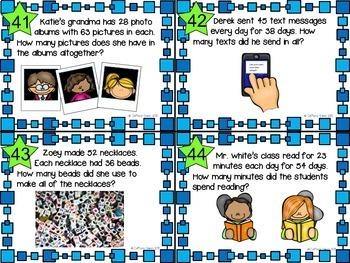 2 Digit x 2 Digit Multiplication - Differentiated