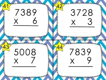 Multiplication Practice Task Cards - Differentiated