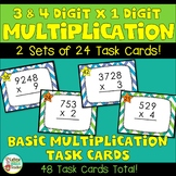 Multiplication Practice 3 Digits and 4 Digits x 1 Digit - Differentiated