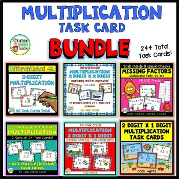 Multiplication Task Card Bundle