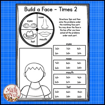 Multiplication Facts Activity: Spin, Solve and Draw