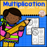 """Multiplication Facts Activity """"Spin, Solve and Draw"""""""