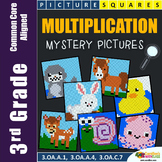 Multiplication Project for 3rd Grade, Coloring Pages Mystery Pictures Worksheets